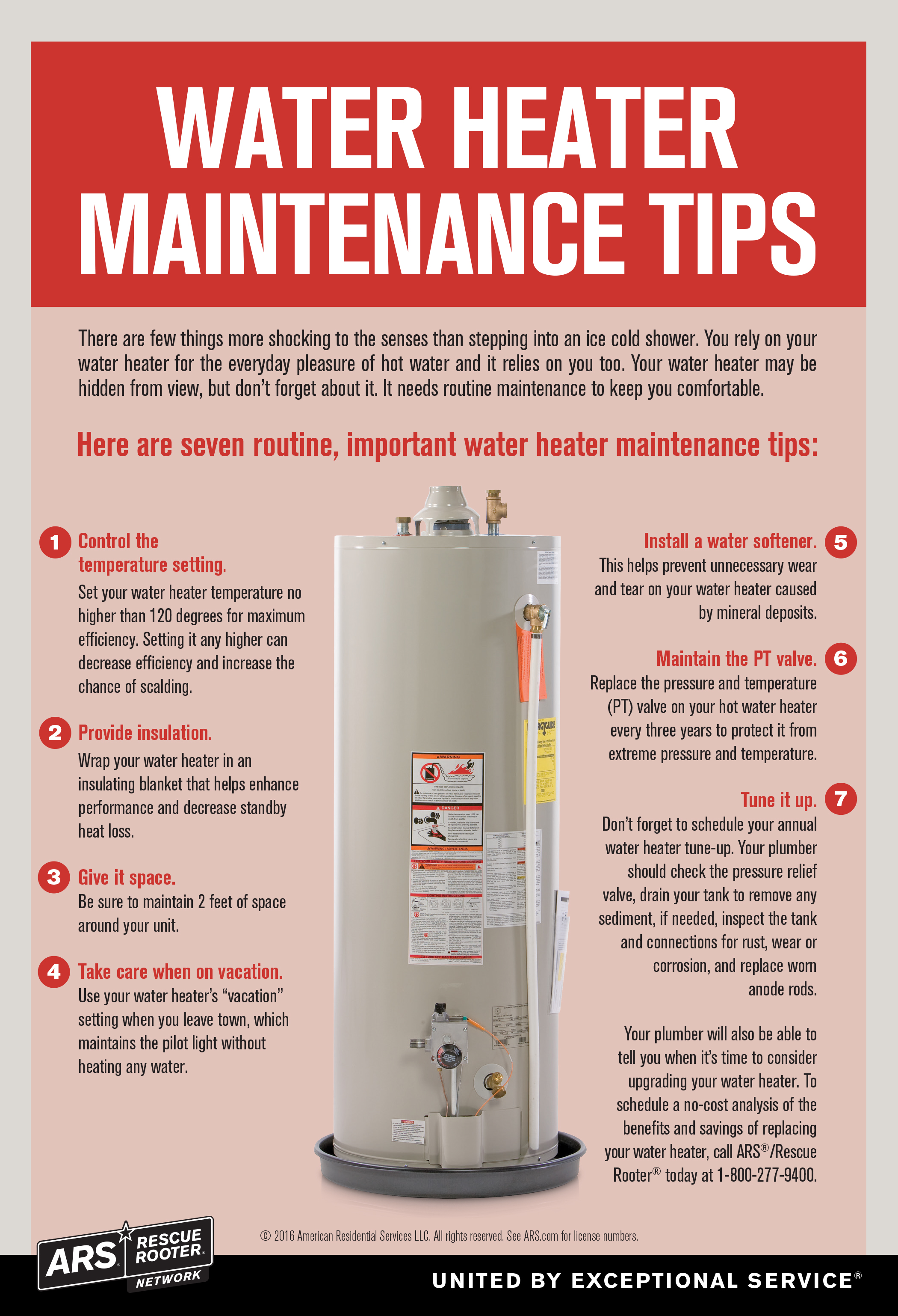 Water Heater Maintenance Tips Ars Rescue Rooter